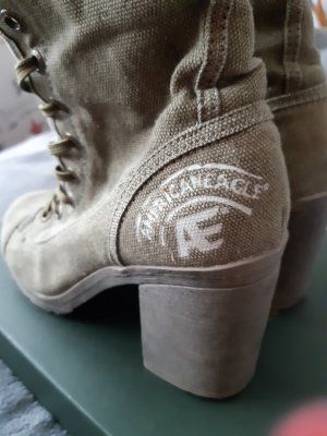 american eagle Zipper Booties pale green
