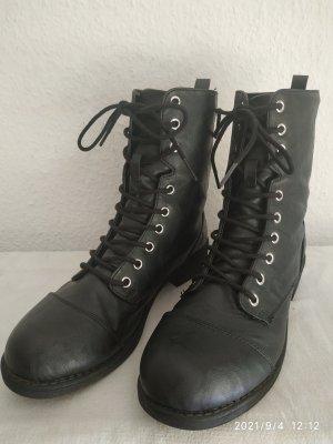 Route 66 Lace-up Boots black