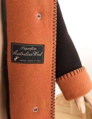 Baronia von Gollas Wool Jacket black brown-orange new wool