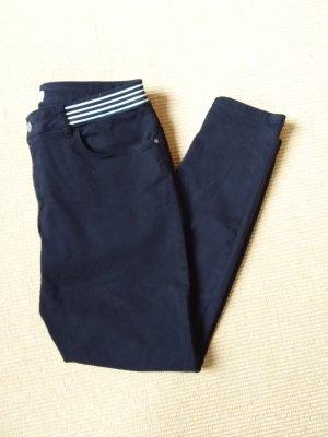 Zara Pantalon cinq poches noir-blanc coton