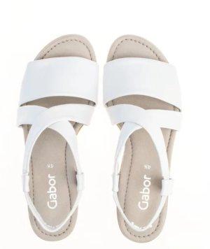 Bequeme Sommer Sandalen in weiß