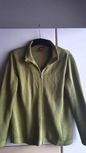 Olsen Giacca in maglia verde chiaro