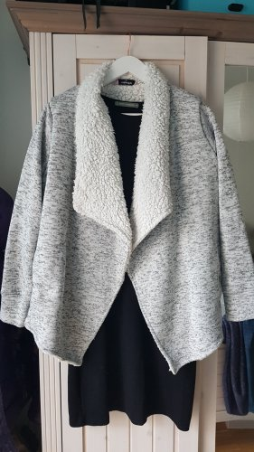 Hunkemöller Chaqueta de tela de sudadera blanco-gris claro