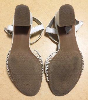 bequeme weiße Sandalen, Größe 38