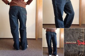 Triple Five Soul Pantalón abombado negro Algodón