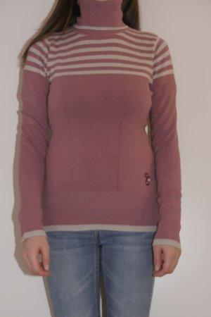 Freesoul Jersey de cuello alto color rosa dorado-beige claro