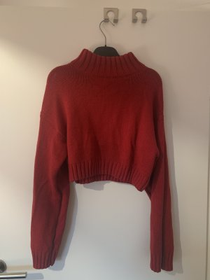 DKNY Wool Sweater dark red wool
