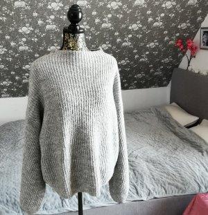 Amisu Jersey de punto gris claro