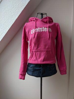 Zimtstern Sweter z kapturem różowy-magenta Bawełna