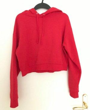H&M Divided Sweatshirt met capuchon rood