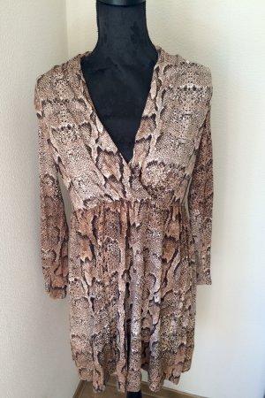 H&M Vestido babydoll marrón claro-marrón