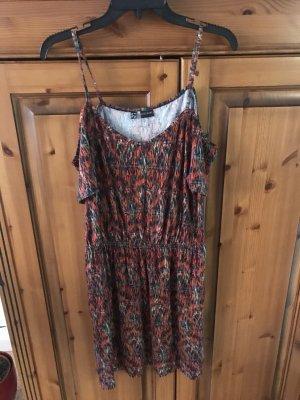 Bodyflirt Sukienka typu babydoll głęboka czerwień-taupe