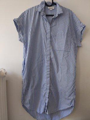 Monki Koszulowa sukienka biały-niebieski