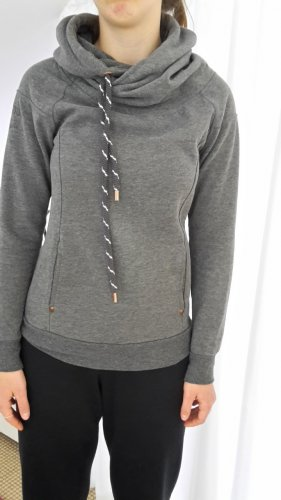 Only Top à capuche gris polyester