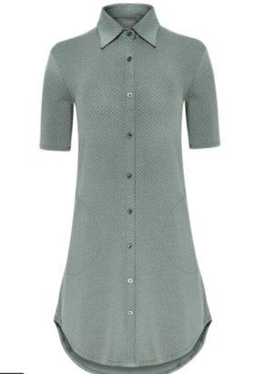 Jockey Robe de chambre gris vert-blanc modal