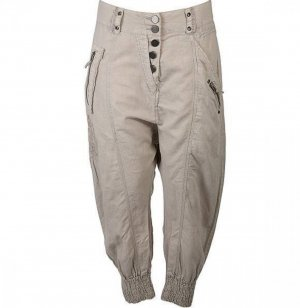 nü by staff-woman Pantalone alla turca beige chiaro-beige