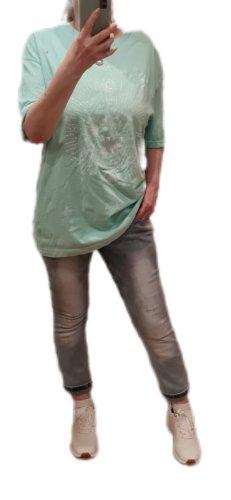 Bershka T-shirt imprimé vert clair-vert menthe