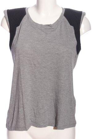Berenice Blouse sans manche gris clair-noir moucheté style décontracté