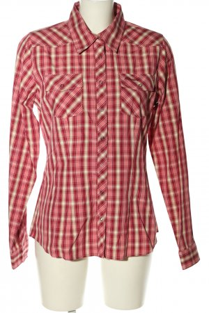 Bergans of Norway Camicia blusa rosso-bianco stampa integrale stile casual