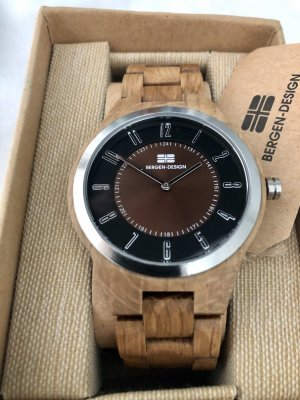 Bergen Design Norway Analog Watch multicolored wood