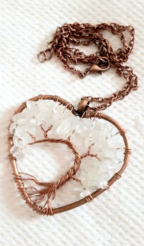 Statement ketting wit-brons