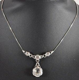 Bergkristall Quarz, Kristall 835 Silber Collier Halskette Kette