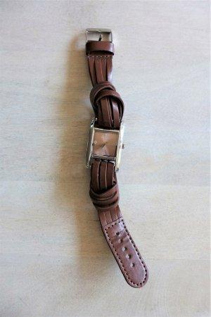 bergmann Reloj con pulsera de cuero multicolor