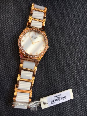 Bering Watch With Metal Strap white-rose-gold-coloured