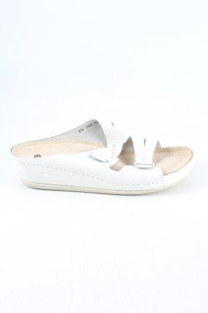 Berkemann Sabot biały W stylu casual