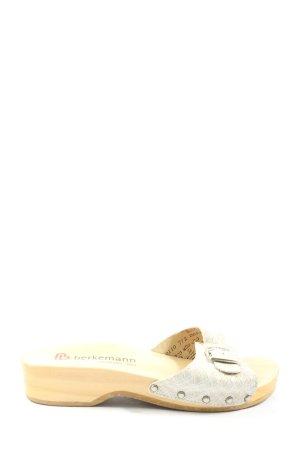 Berkemann Sabot bianco-crema stampa integrale stile casual