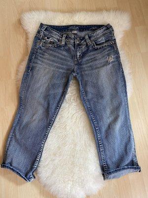 "Bermuda-Capri -Jeans Hose ""silver"""