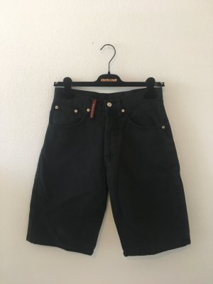 Bermuda kurz Hise Shorts Denim boyfriend dad Jeans schwarz 28 36 hoch weit Sommer