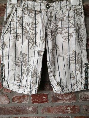 Amisu Bermuda blanco-gris verdoso