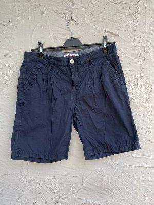 Street One Bermudas dark blue cotton