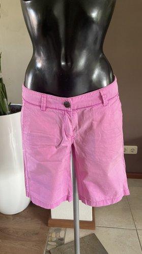 s. Oliver (QS designed) Pantalón corto de tela vaquera rosa-rosa Algodón