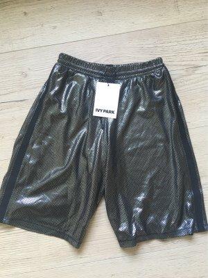 Ivy Park Pantalón corto deportivo color plata-negro