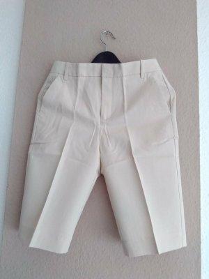 Bermudas-Shorts in beige aus Baumwolle und Leinen, Grösse S, neu