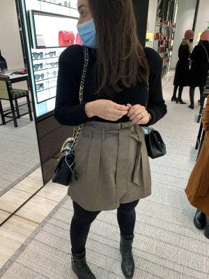 Zara High waist short khaki-groen-grijs