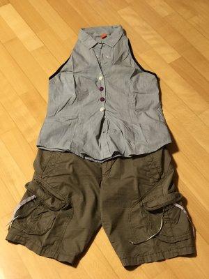 Hugo Boss Shorts taupe cotton