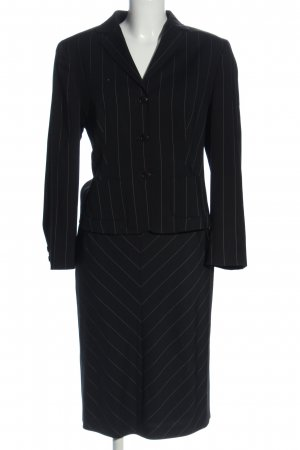 Bernd Berger Ladies' Suit black-light grey striped pattern business style