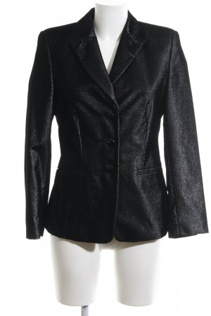 Bernd Berger Short Blazer black-silver-colored flecked elegant