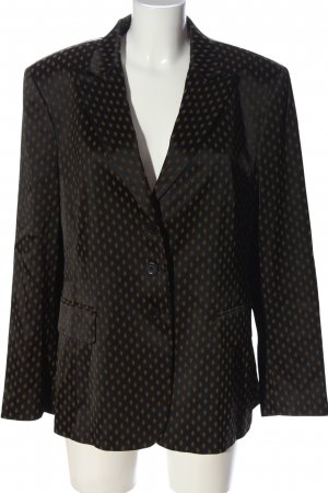 Bernd Berger Short Blazer black-brown allover print business style