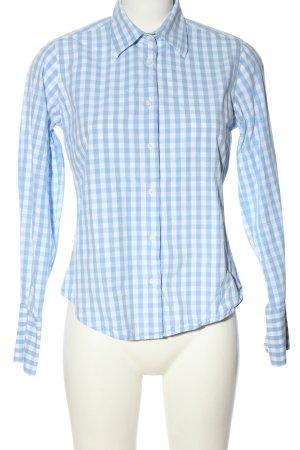 Bernd Berger Chemise à manches longues bleu-blanc motif à carreaux