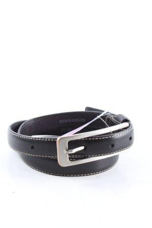 Bernd Berger Cintura di pelle nero stile professionale