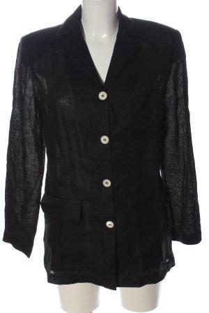 Bernd Berger Lniana bluzka czarny Melanżowy W stylu casual