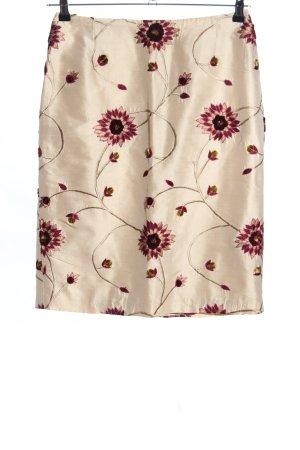 Bernd Berger Silk Skirt natural white-red allover print casual look