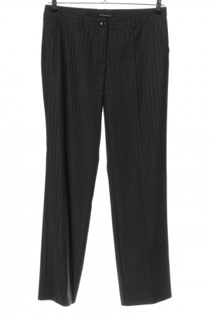 Bernd Berger Jersey Pants black striped pattern business style