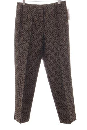 Bernd Berger Pantalone jersey marrone scuro-crema stile professionale