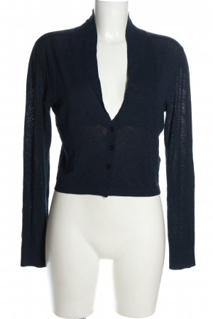 Bernd Berger Cardigan blue cable stitch casual look