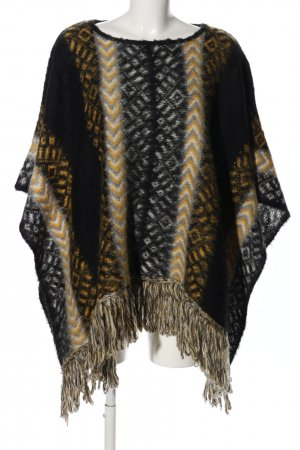 Bernd Berger Knitted Poncho graphic pattern casual look